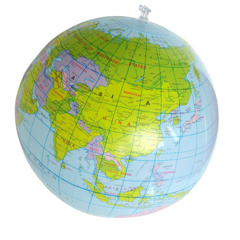 Inflatable Globe Education Geography Toy Map Balloon Beach Ball 40cm (Blue) Price Philippines