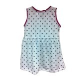 Kid Basix Dress with Navy Hearts Print & Fuchsia Details (White) Price Philippines