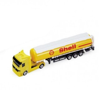 Harga Welly 1:87 Mercedes-Benz Shell Oil Tanker Diecast Truck CollectionModel(Yellow) - intl