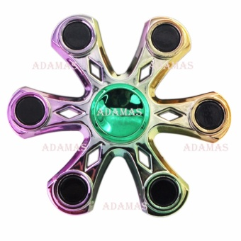 Harga Electroplate Hand Fidget Spinner (Rainbow)