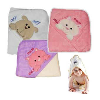 Harga 3 pc set New Born Baby Towel with Hood