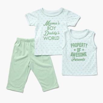 Nap Boys Property of Awesome Parents Pajama Set (Green) Price Philippines