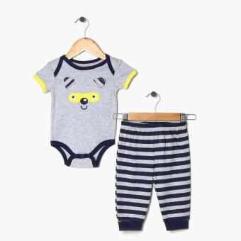 Harga Pure Boys Fox Onesie and Joggers Set (Blue)