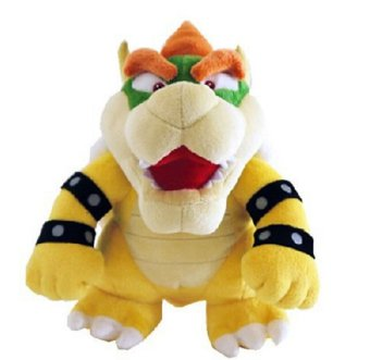 Harga Super Mario Bros Sanei Bowser Plush Stuffed Plush Toy 26cm