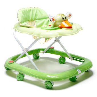 Harga Cutie First Steps Baby Walker with Safety Bump Guard(Green)