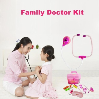 9pcs Toys Doctor Medical Play Carry Set Case Education Role With Light And Sound Pink - intl Price Philippines