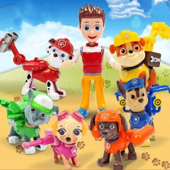 6Pcs/set Paw Patrol Action Pup Badge Weapon Shield Dog Backpack Projectile Toys - intl Price Philippines