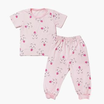 Nap Girls Cat Tee and Pajama Set (White) Price Philippines