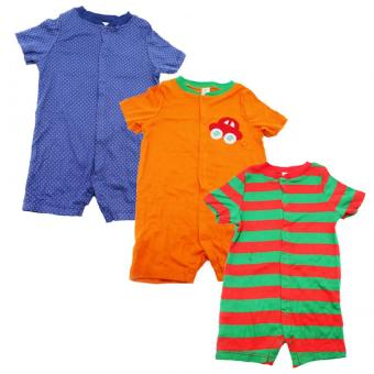Tickle Assorted Color/Design Babies 3 Pack Romper Price Philippines