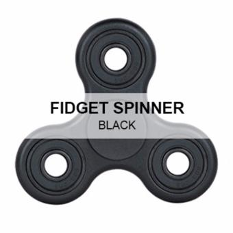 High Quality Plastic Metal and Bearing Anti-Anxiety Fidget Hand Spinner Fingertip Gyro Bearing Toy For Kids & Adults - Best Stress Reducer For ADD, ADHD, Boredom, Autism (Black/Green/Design Printed) PROMO PRICE Price Philippines