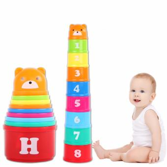 Harga Baby Jenga Toys Sets of Cups Educational Toy - Intl