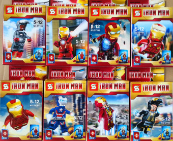 Harga Toys for Boys SY185 Compatible Mini Figures Iron Man, set of 8