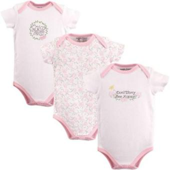 Harga Luvable Friends Bodysuits 3-Piece Bee Happy