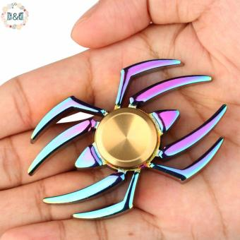 Harga D&D Spider Fidget Spinner Colorful Metal Finger Spinner Toy Hand Spinner ADHD Relieve Anxiety Desk Toys Kids Gift Anti Stress