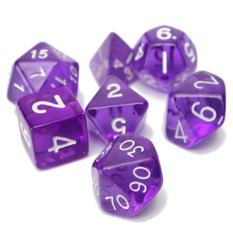 7-Dice Sided D4 D6 D8 D10 D12 D20 Magic-the-Gathering MTG D&D RPG Poly Game Set Purple Price Philippines