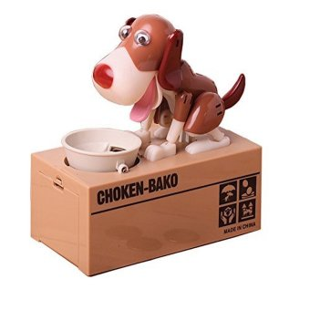 Harga Dog Style Piggy Bank Saving Money Bank Coin Money Box (Brown,White)