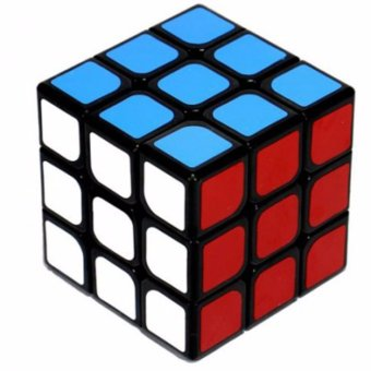 Harga MoFang Jiaoshi MF3 3x3x3 Rubik's Cube Brain Teasers Speed Magic Cube Puzzles MF8803 Black Body