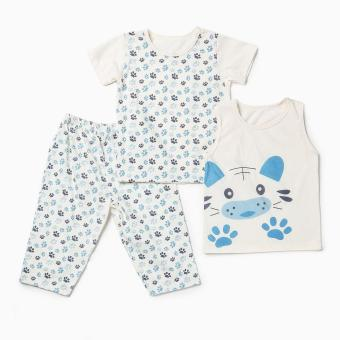 Nap Boys Dog Pajama Set (Cream) Price Philippines