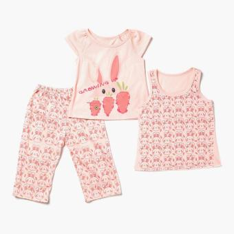 Nap Girls Growing Up Pajama Set (Orange) Price Philippines