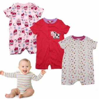 Tickle R1 Assorted Color/Design Babies 3 Pack Romper Price Philippines
