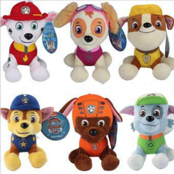 6Pcs PAW PATROL COMPLETE SET of Cute Dogs plush Doll Dog Toy Zuma 20CM Price Philippines
