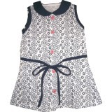 Kid Basix Navy Lace Print w/Ribbon Detail Dress (Navy) Price Philippines