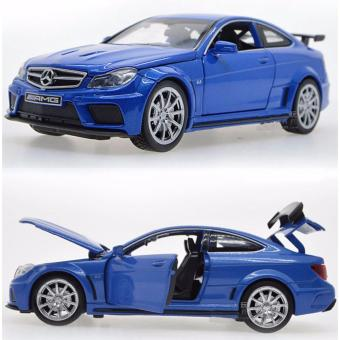 Harga 1:32 Mercedes-Benz C63 Diecast Metal Car Model with Light & Sound,Door Openning - intl