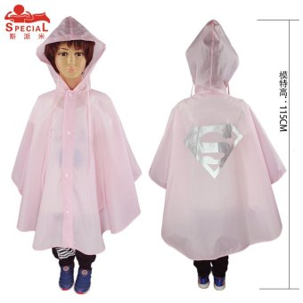 Harga 2017 New 1pcs Super Heros Role-play Cartoon Super Hero Kids Rain Coat Children Poncho Single-person Rainwear/Raincoat/Rainsuit Boys Girls Poncho 7 Color Available Cosplay Action Toys Gift For Children (Pink superman) - intl