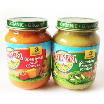 Harga Earth's Best Organic Baby Food Pack of 2 (Spaghetti with Cheese/ Zucchini Broccoli Medley)