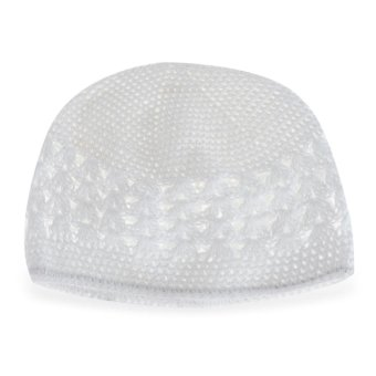 Babies Sweet Warm Knitted Hat Hollow Out Design (White) - intl Price Philippines