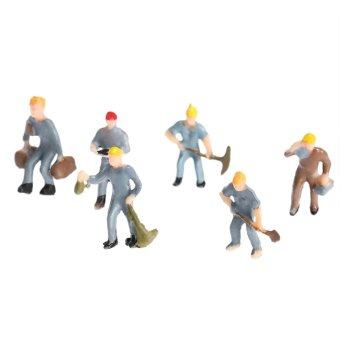 Harga 25 Little People Painted Building Layout 1:87 Scale Model Train Workers Figures Workman - intl