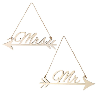 Pair of mr & mrs Arrow Sign Wedding Home Decoration - intl Price Philippines