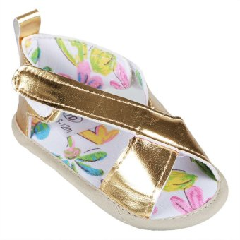 Royal Baby SHO-RB-1709 Girls Infant Shoes with Flower Print (Gold) Price Philippines