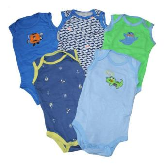 Tickle 5Pcs Assorted Color/Design Babies Bodysuits for 3 Months Baby Boy Price Philippines