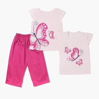 Nap Girls Butterfly Pajama Set (Pink) Price Philippines