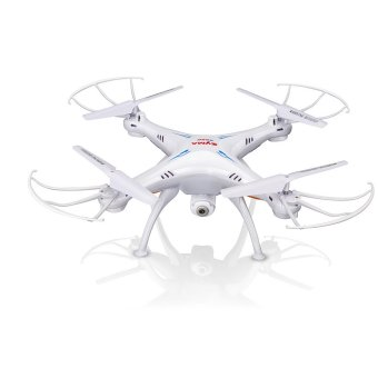 Syma X5SW 4 Channel 6 Axis 2.4G Wifi FPV RC Remote Control Quadcopter with 200W Pixels HD Camera Flash Light Helicopter Airplane Quad Copter Plane Aircraft White Price Philippines