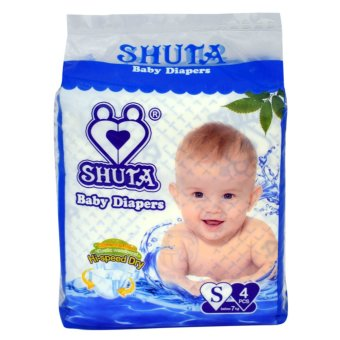 Shuta (S-4081) Dsposable Baby Diapers S 4'pcs(Blue) Price Philippines
