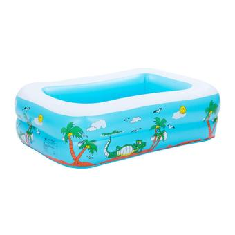 zoowop Babies Inflatable Swim Pool PVC Paddling Pools for Kids, Blue Square Price Philippines