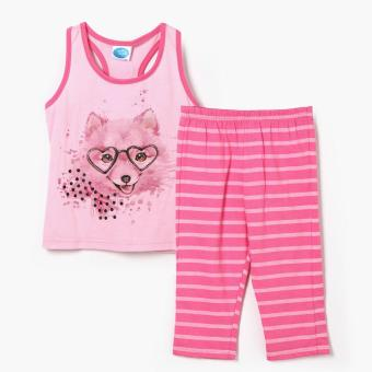 Harga Nap Girls Girly Dog Tank and Pajama Set (Pink)