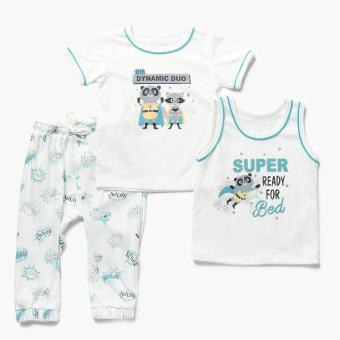 Nap Boys Super Ready for Bed Pajama Set (Cream) Price Philippines