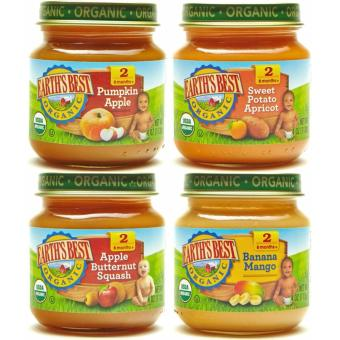 Harga Earth's Best Organic Baby Food Assorted Vegetables Variety Pack (4 Jars)
