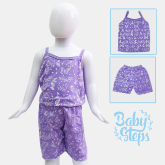 Harga BABY STEPS Paradise Baby Clothes Girl Clothing Sets (Purple)