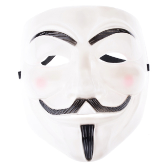 Guy Fawkes Maske for Vendetta Mask Occupy Anonymous Cosplay Karneval (White) Price Philippines