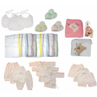 31 PCS/Set Newborn Baby Cotton Clothing Set Gift Set Baby Girl White Clothes Price Philippines