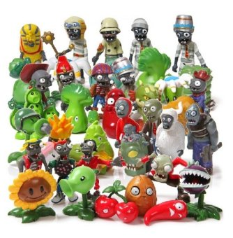 40Pcs/Set Plants vs Zombies Toy 3-7cm PVZ Collection Plant Zombine Figure Toys Gift Price Philippines