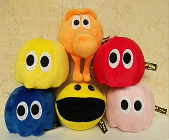 6pcs Set Newest Pixels Toy Q-bert Qbert Pac-man Soft Stuffed Plush Toys 16cm Ghost Plush Doll Toy Price Philippines