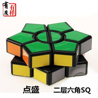 Harga Ds Heterotype Rubik's Cube Black Magic Cube - intl