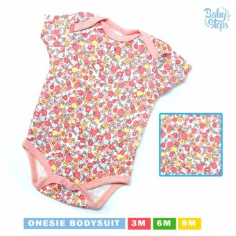 Harga Baby Steps Onesie Paradiso Bodysuit 0-3 Months (Pink)
