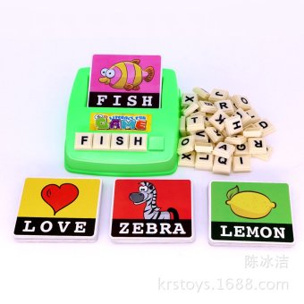 Harga Kids English Letter Card Pocket Camera Study English See Pictures - intl