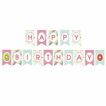 Harga Colorful Happy Birthday Party Banners